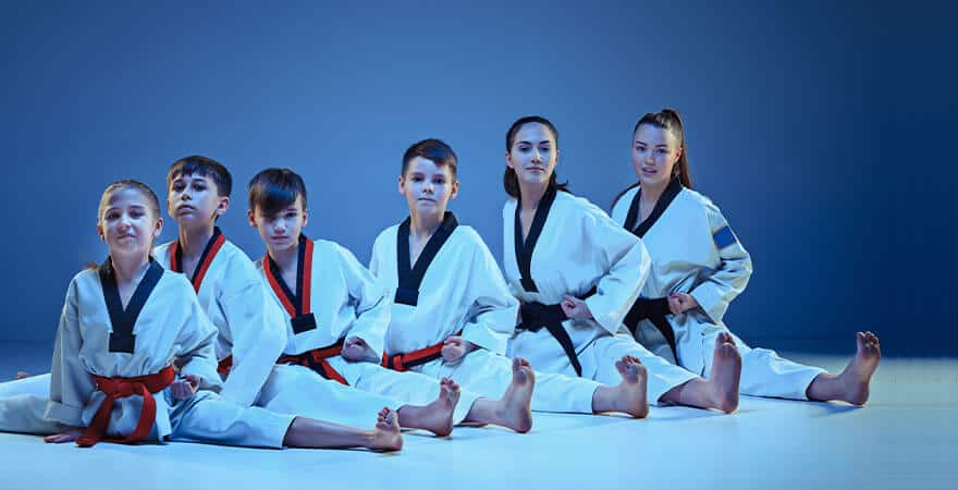 Martial Arts Lessons for Kids in _Citrus Heights_ _CA_ - Kids Group Splits