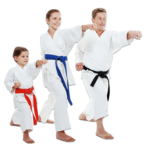 Martial Arts Lessons for Families in _Citrus Heights_ _CA_ - Man and Daughters Family Punching Together